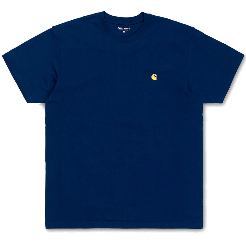 Carhartt Chase T-Shirt Metro Blue/Gold