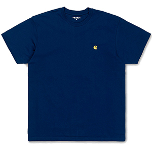 Carhartt Chase T-Shirt Metro Blue/Gold