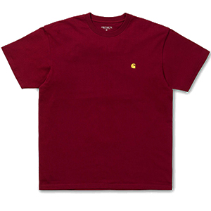 Carhartt Chase T-Shirt Mulberry/Gold