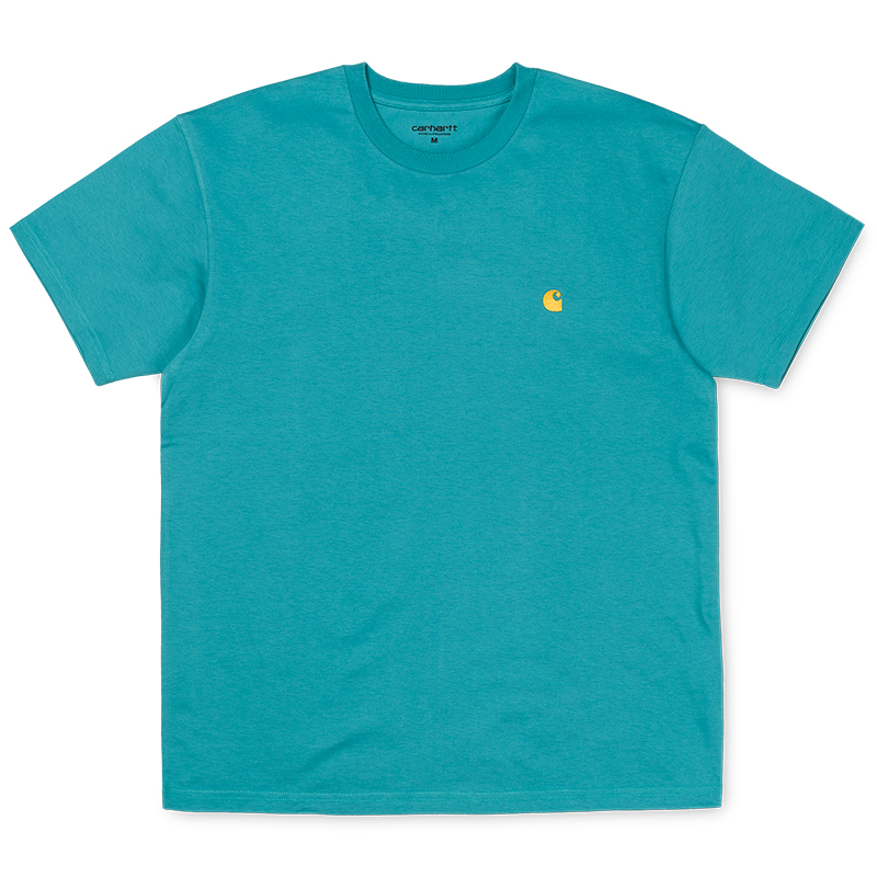 Carhartt Chase T-shirt Soft Teal/Gold