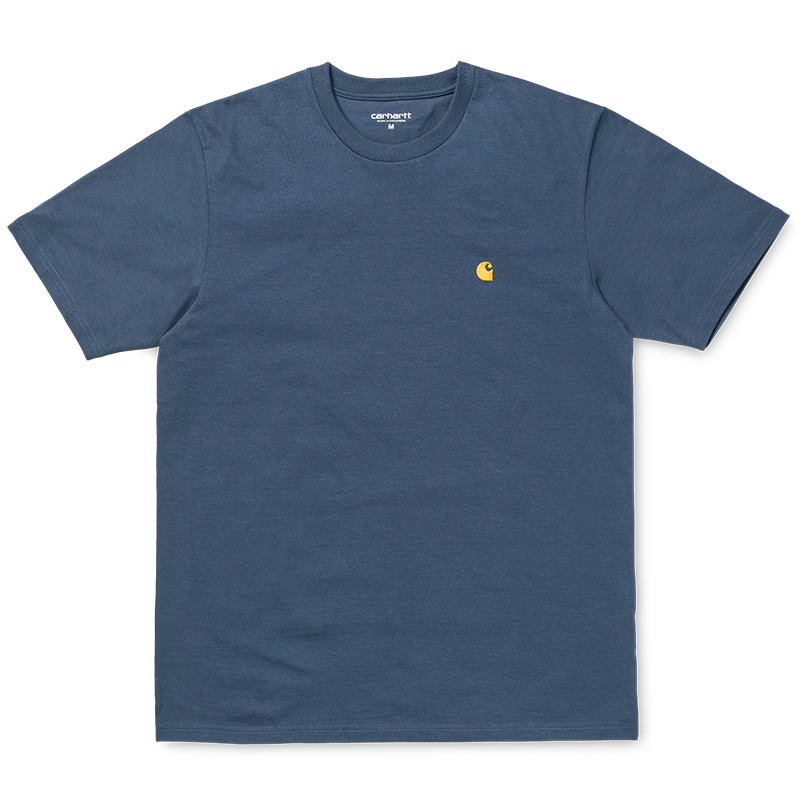 Carhartt Chase T-shirt Stone Blue/Gold