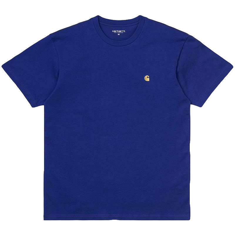 Carhartt WIP Chase T-Shirt Thunder Blue/Gold