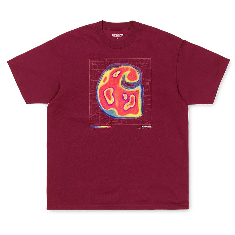 Carhartt WIP Heatmap T-Shirt Cranberry