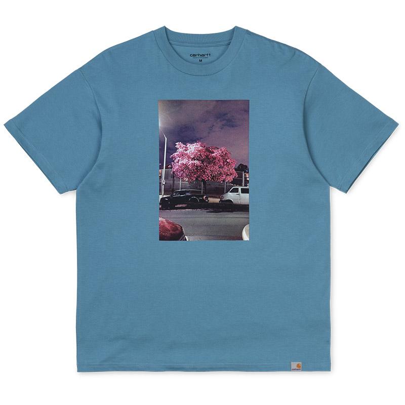 Carhartt WIP Matt Martin Blossom T-Shirt Cold Blue