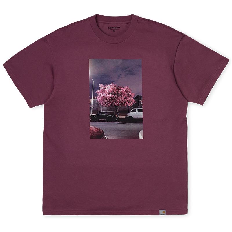 Carhartt WIP Matt Martin Blossom T-Shirt Dusty Fuchsia