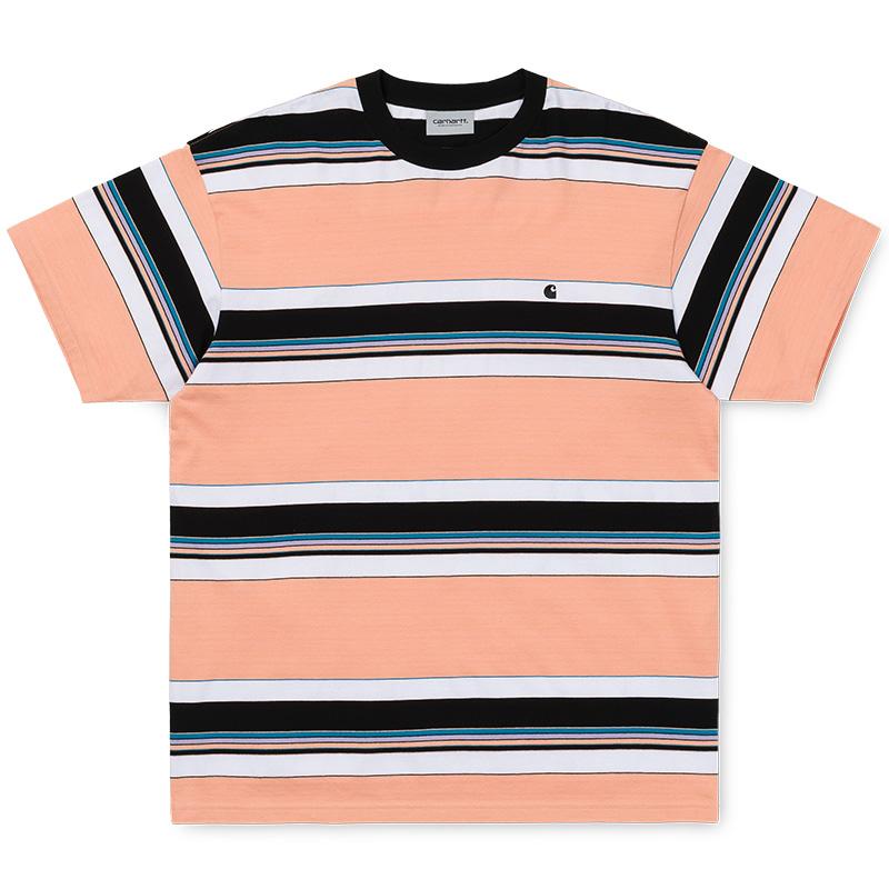 Carhartt Ozark T-Shirt Peach/Black Stripe