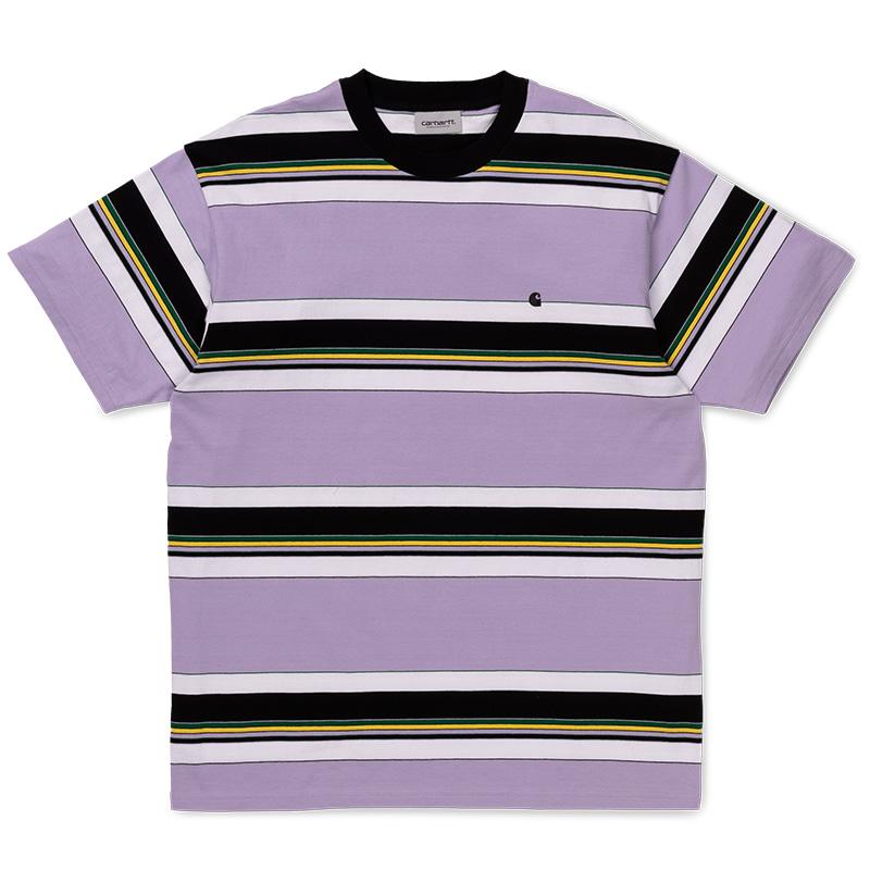 Carhartt Ozark T-Shirt Soft Lavender/Black Stripe