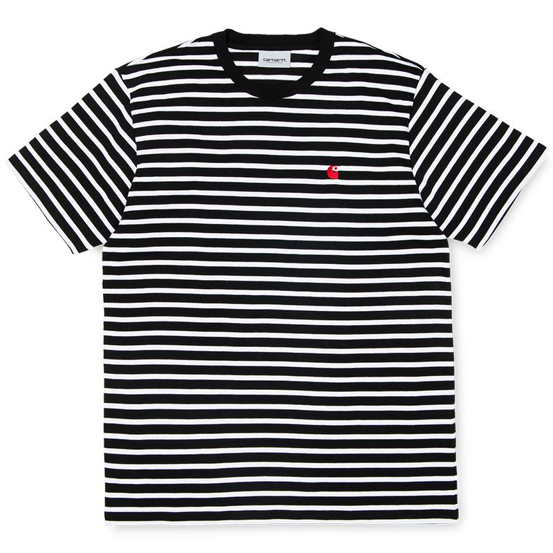 Carhartt Robie T-Shirt Black/White/Blast Red