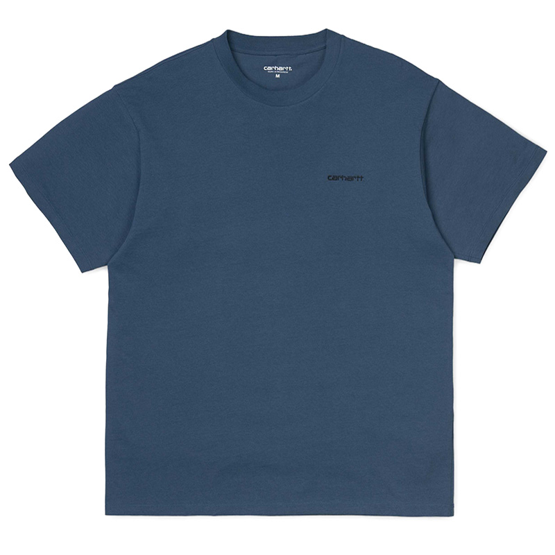Carhartt Script Embroidery T-Shirt Prussian Blue/Black