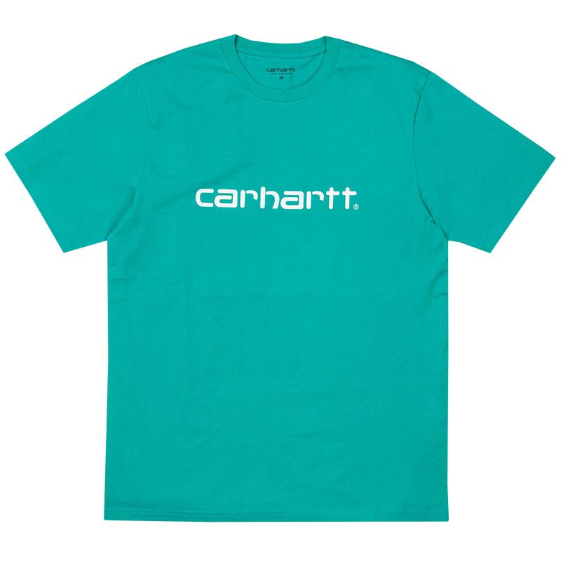 Carhartt Script T-Shirt Cauma/White