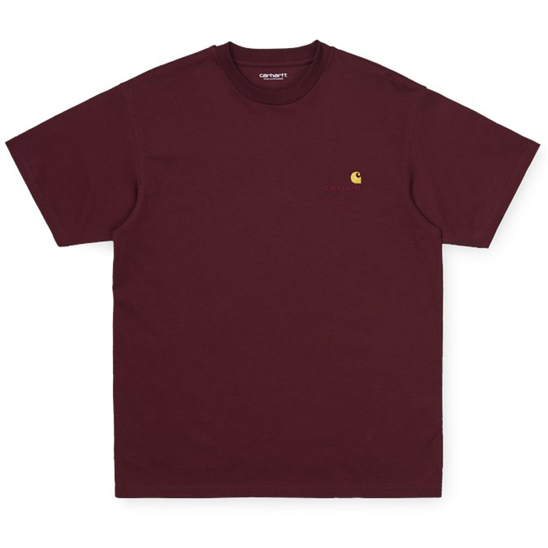 Carhartt WIP American Script T-Shirt Bordeaux