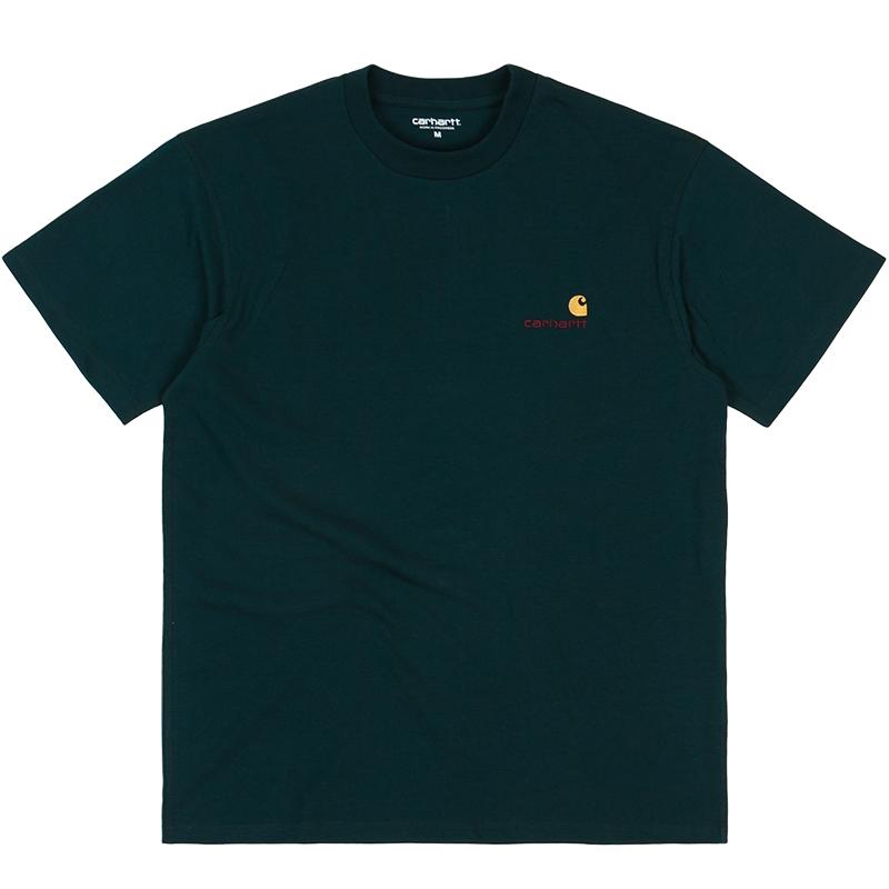Carhartt WIP American Script T-Shirt Deep Lagoon