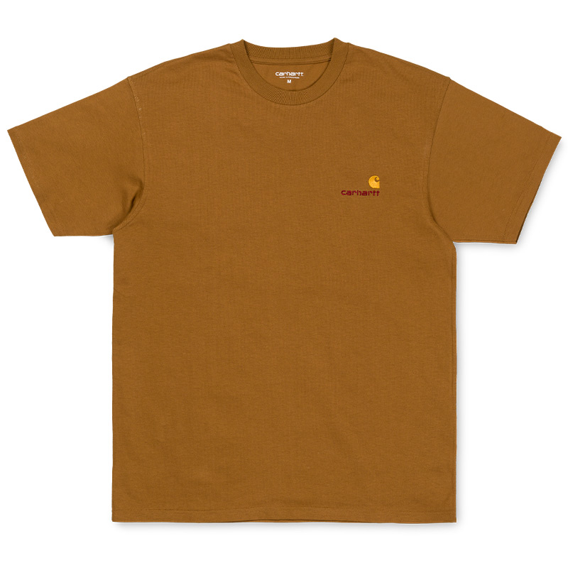 Carhartt WIP American Script T-Shirt Hamilton Brown