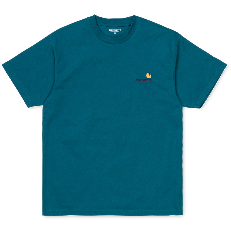Carhartt WIP American Script T-Shirt Moody Blue