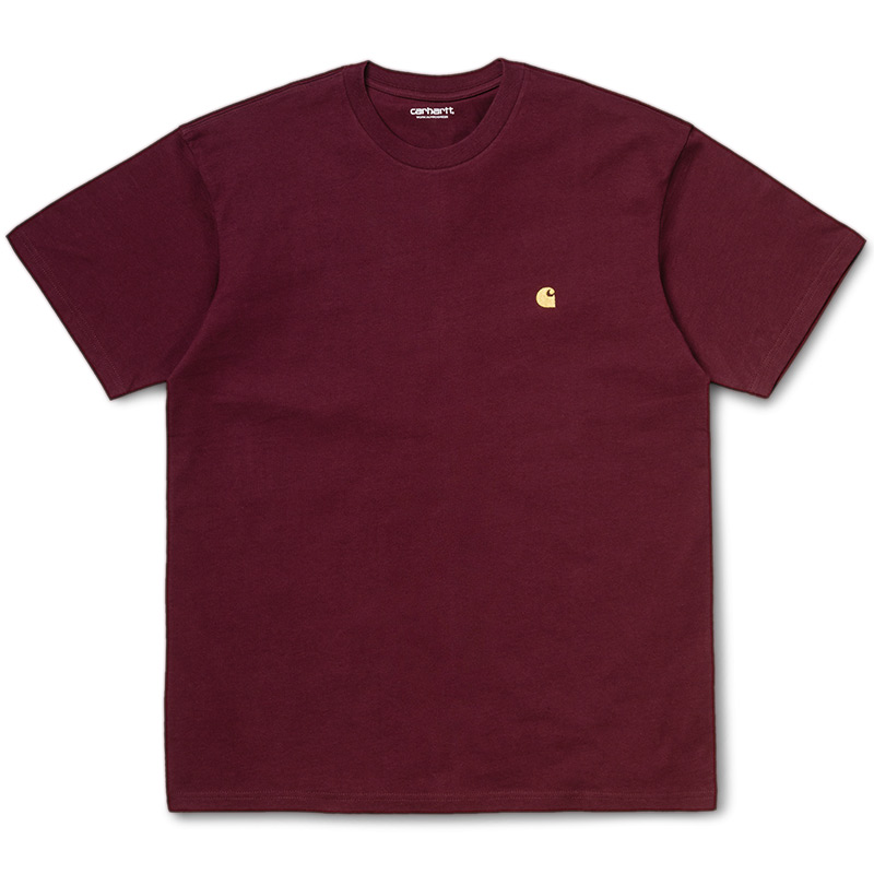 Carhartt WIP Chase T-Shirt Bordeaux/Gold