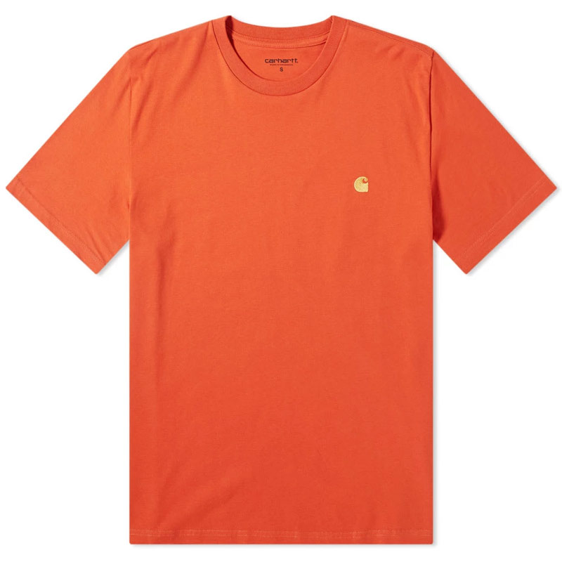 Carhartt WIP Chase T-Shirt Brick Orange/Gold