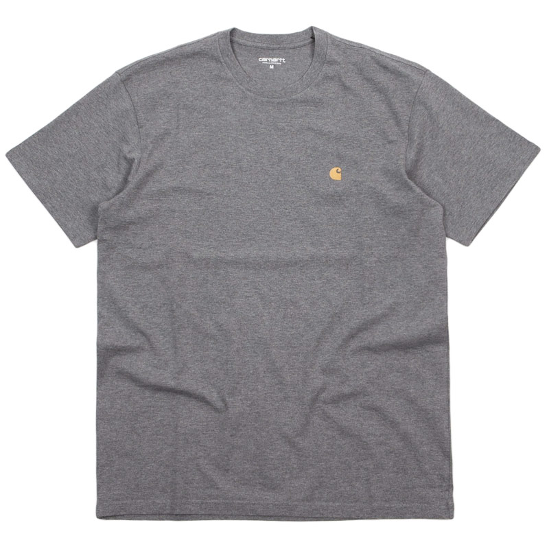 Carhartt WIP Chase T-Shirt Dark Grey Heather/Gold
