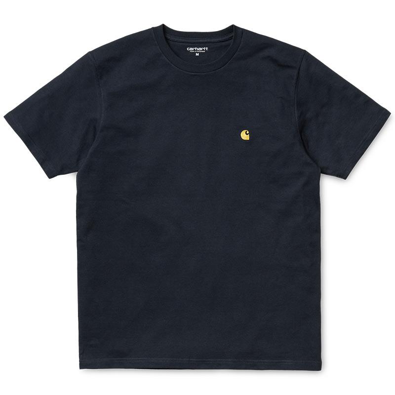 Carhartt WIP Chase T-Shirt Dark Navy/Gold