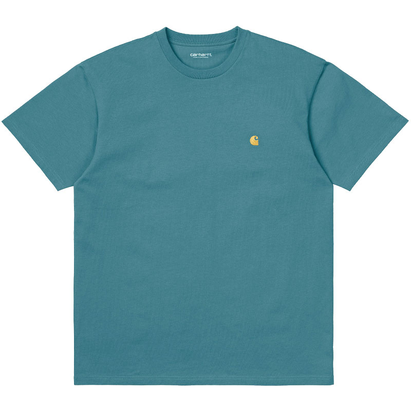 Carhartt WIP Chase T-Shirt Hydro/Gold
