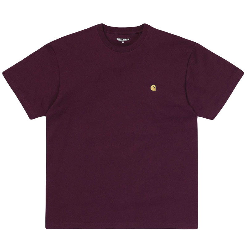 Carhartt WIP Chase T-Shirt Merlot/Gold