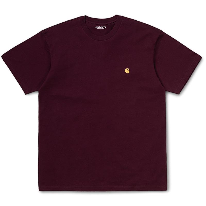 Carhartt WIP Chase T-Shirt Shiraz/Gold