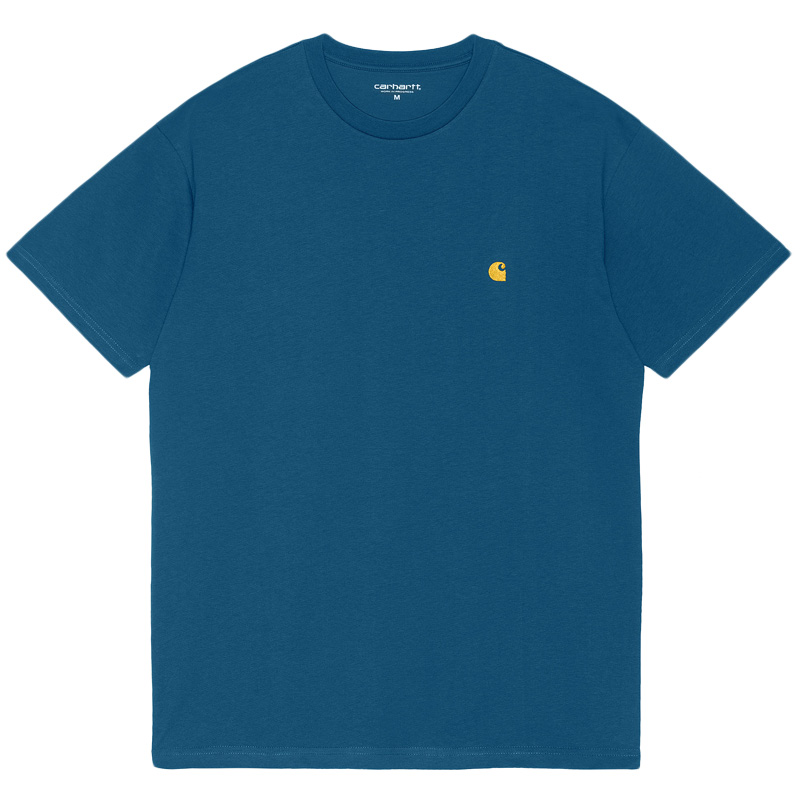 Carhartt WIP Chase T-Shirt Skydive/Gold