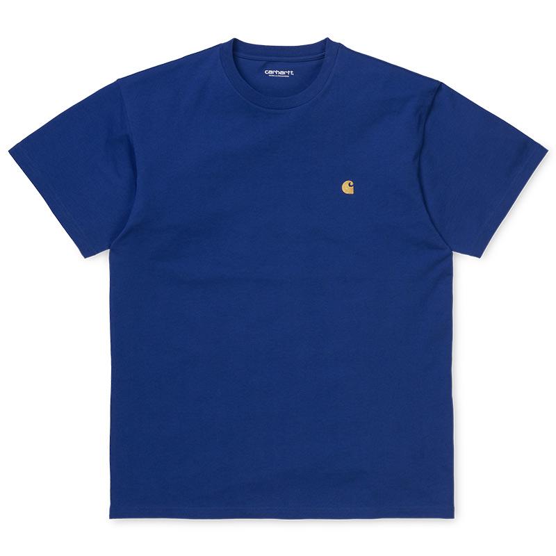 Carhartt WIP Chase T-Shirt Submarine/Gold