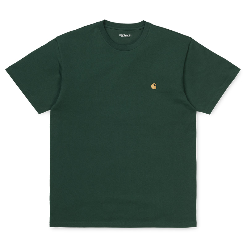 Carhartt WIP Chase T-Shirt Treehouse/Gold