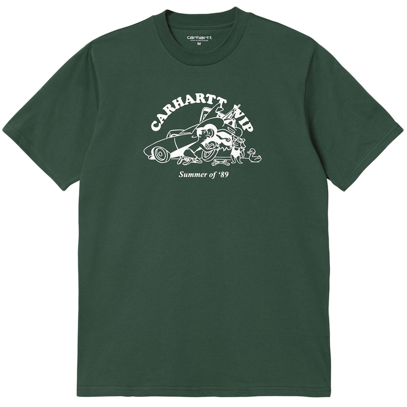 Carhartt WIP Flat Tire T-Shirt Treehouse/White