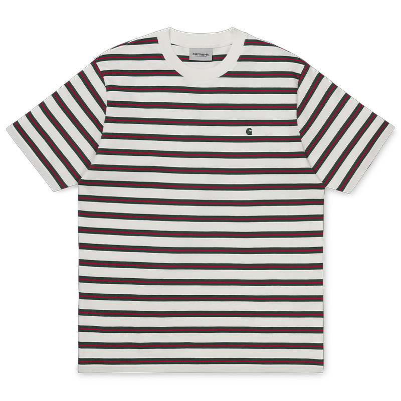 Carhartt WIP Oakland T-Shirt Oakland Stripe/ Wax/Treehouse Stripe