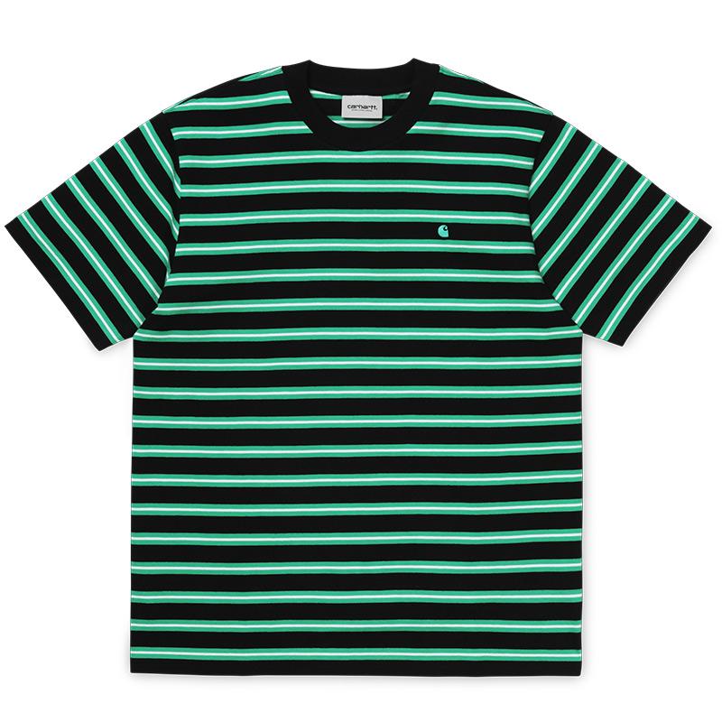 Carhartt WIP Oakland T-Shirt Oakland Stripe Black/Yoda stripe