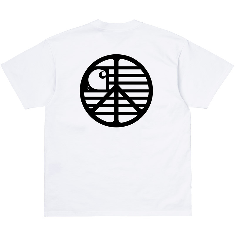 Carhartt WIP Peace State T-Shirt White/Black