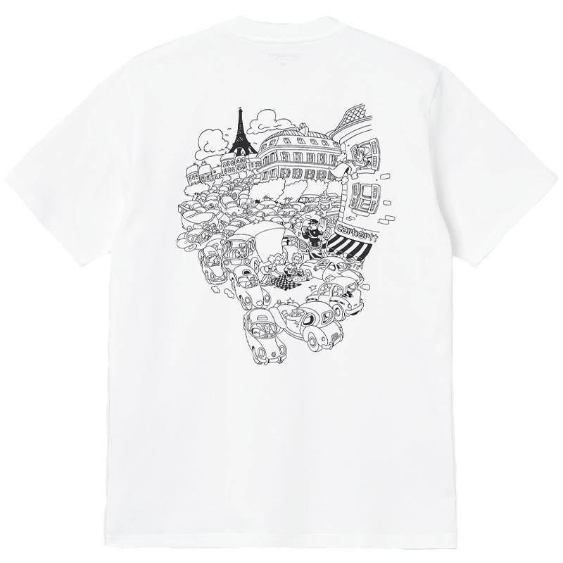 Carhartt WIP Picnic In Paris T-Shirt White