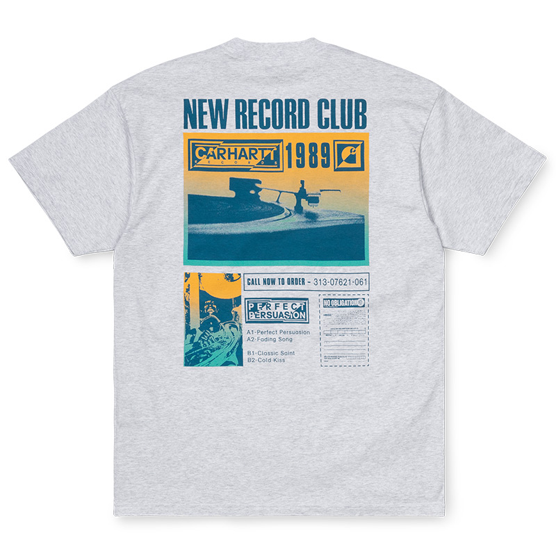 Carhartt WIP Record Club T-Shirt Ash Heather