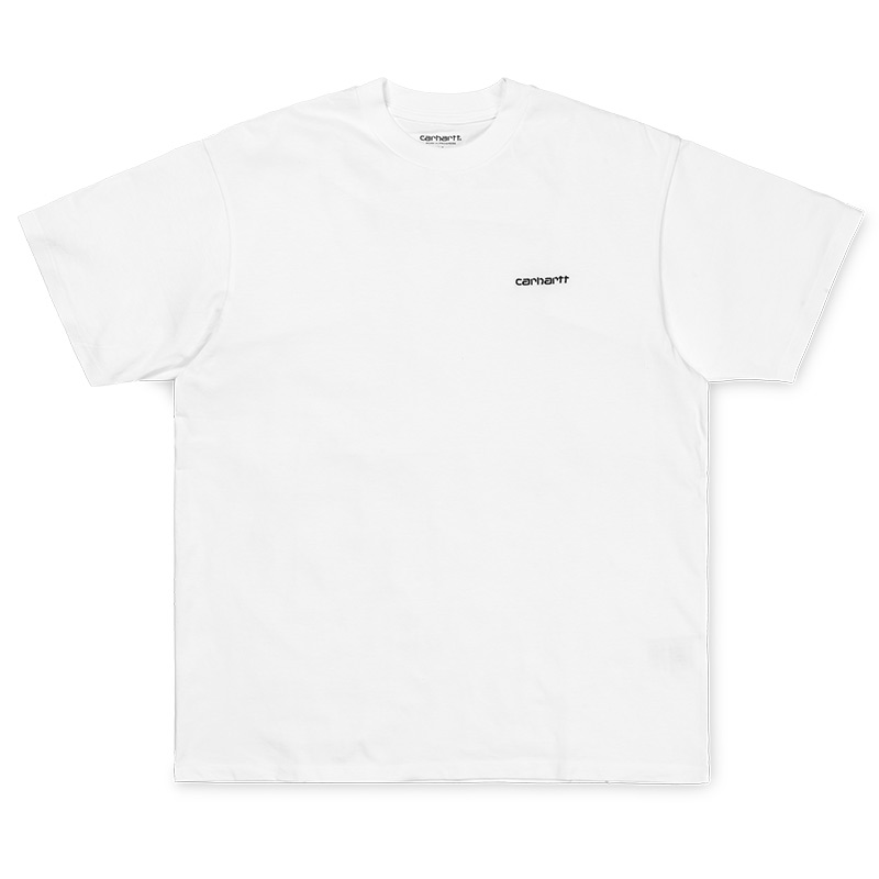 Carhartt WIP Script Embroidery T-Shirt White/Black