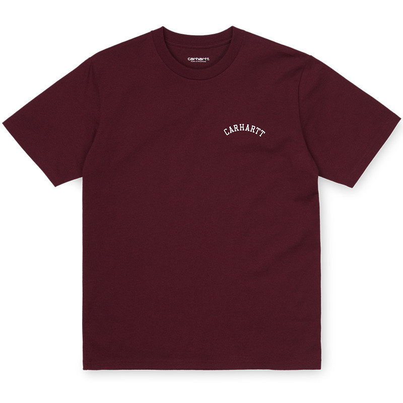 Carhartt WIP University Script T-Shirt Bordeaux/White