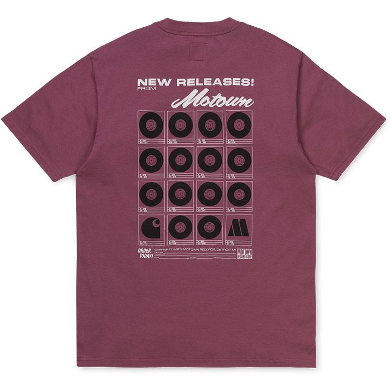 Carhartt WIP X Motown Orderform T-Shirt Dusty Fuchsia