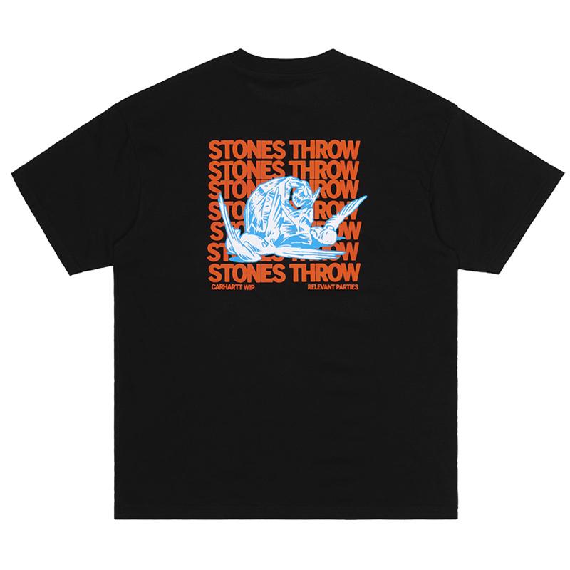 Carhartt WIP X Relevant Parties Stones Throw T-Shirt Black