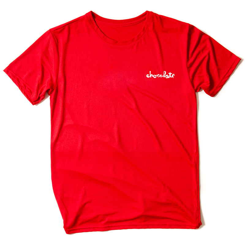 Chocolate Performance Chunk T-Shirt Red