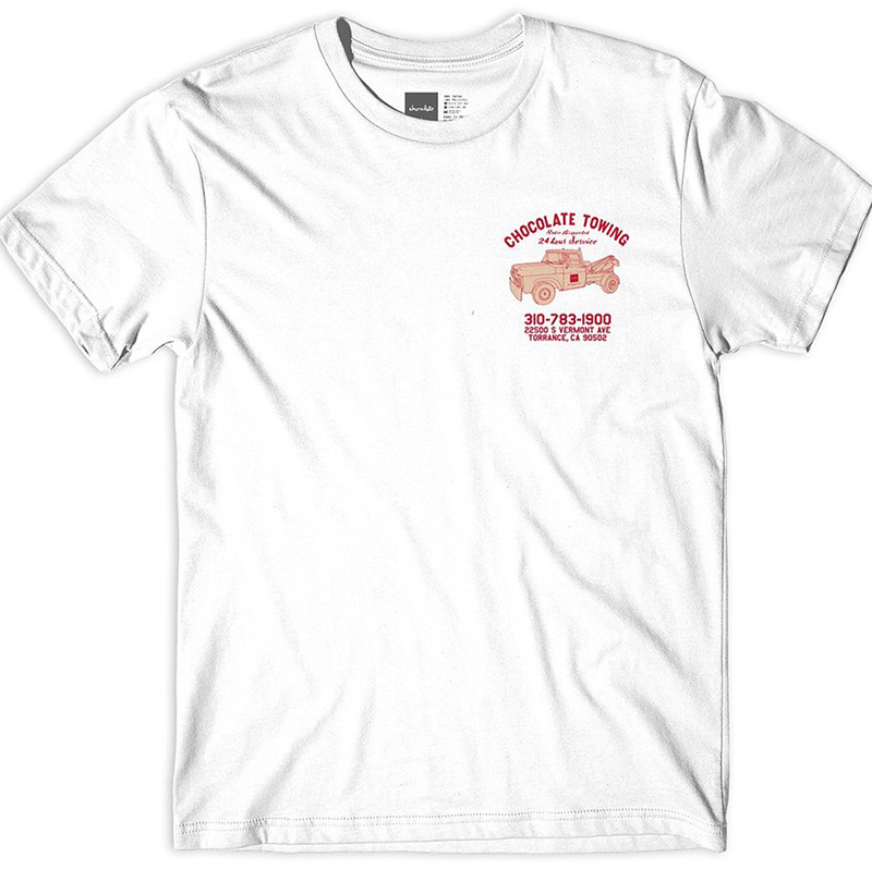 Chocolate Towing T-Shirt White
