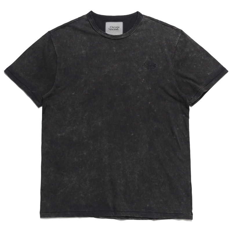 Chrystie NYC Prm Acid Wash T-Shirt Washed Black