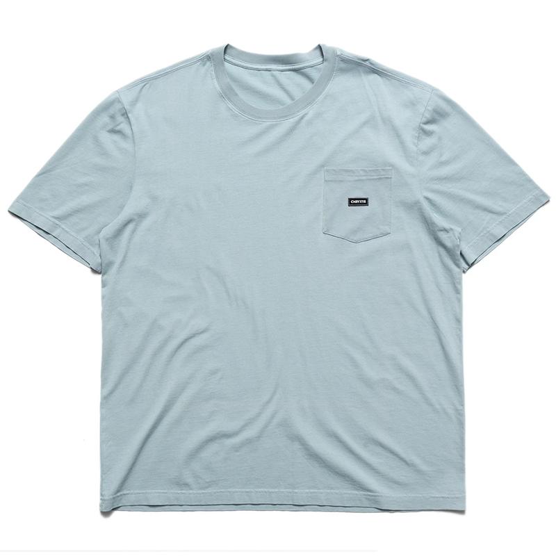 Chrystie NYC Small Og Logo Patch Pocket T-Shirt Stone Blue