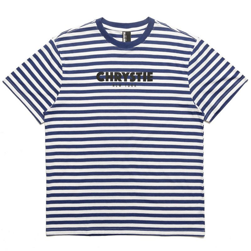 Chrystie NYC Stripe T-Shirt Navy
