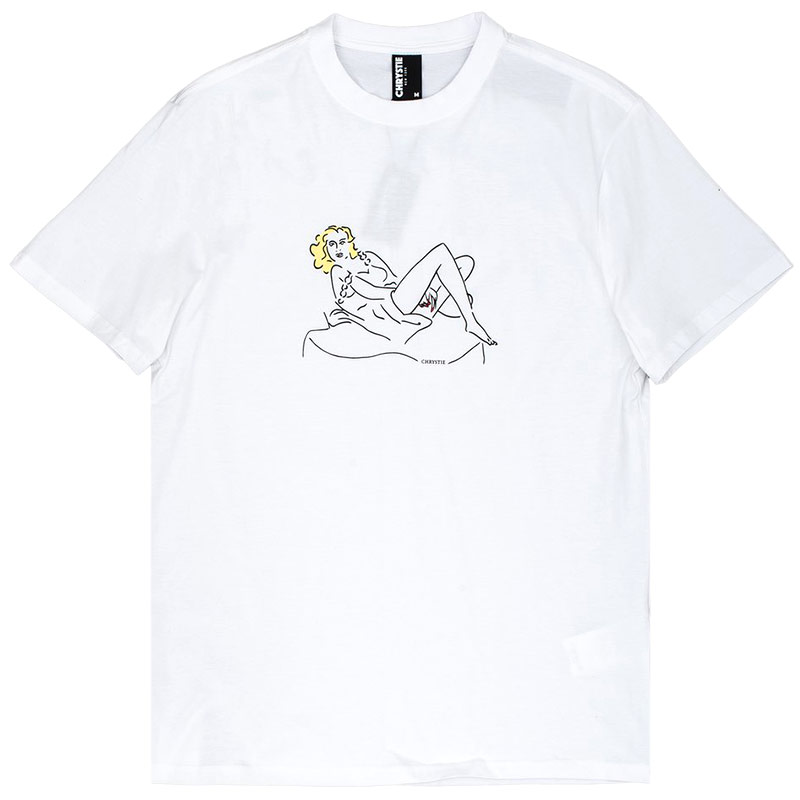 Chrystie NYC Woman On The Chair T-Shirt White