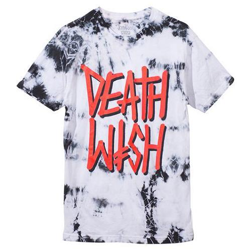 Deathwish Deathstack T-Shirt Tie Dye Black/White