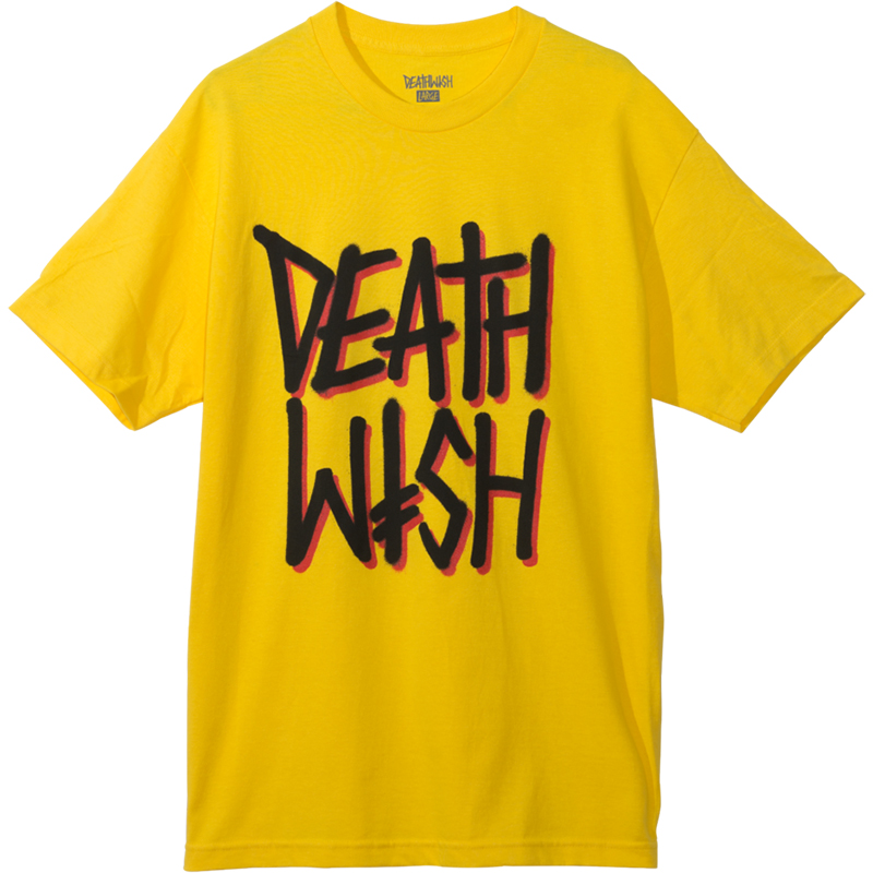 Deathwish Deathstack T-Shirt Yellow/Black