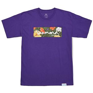 Diamond Aloha Floral Box Logo T-Shirt Purple