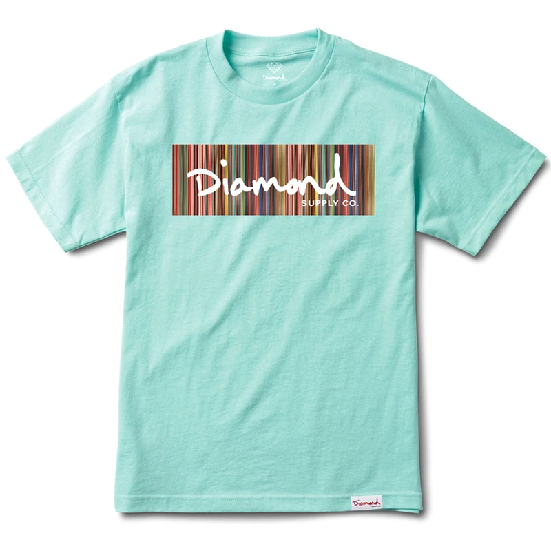 Diamond Color Ply Box Logo T-Shirt Diamond Blue