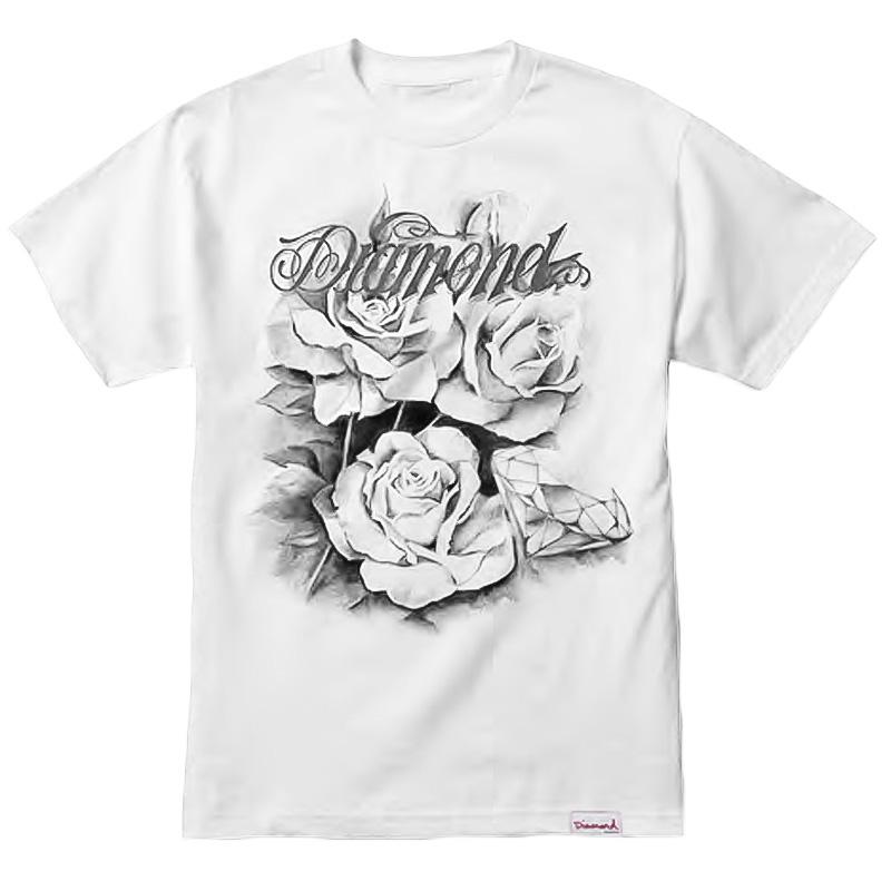 Diamond Giant Script Blossom T-Shirt White