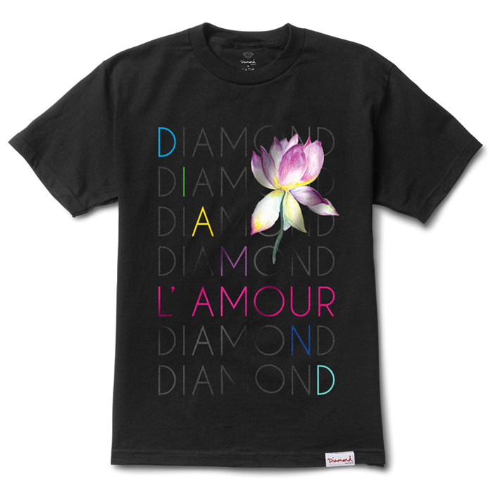 Diamond L'Amour Diamond T-Shirt Black
